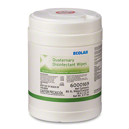 Ecolab® Quaternary Disinfectant Wipes - 85 ct.