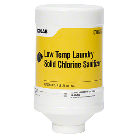 Ecolab® Low-Temp Laundry Solid Chlorine Sanitizer - 4 lb.