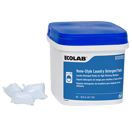 Ecolab® Home-Style Unit Dose Packs Laundry Detergent - 0.7 oz. Packs