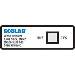 Ecolab® Dishwasher Temp Labels 160°F