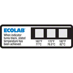 Ecolab® Dishwasher Temp Labels 160°F, 170°F, 180°F