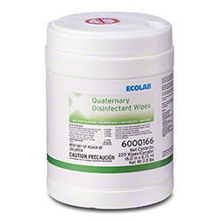 Ecolab® Quaternary Disinfectant Wipes - 220 ct.