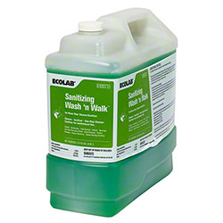 Ecolab® Sanitizing Wash 'n Walk Floor Cleaner - 2.5 Gal