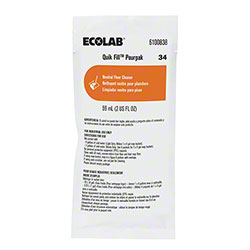 Ecolab® 34 Neutral Floor Cleaner - 2 oz.