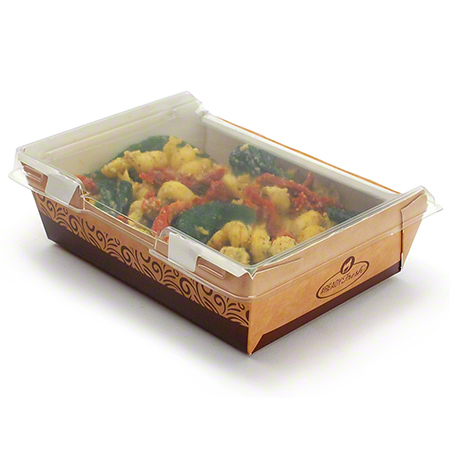 ReadyFresh Kraft Container w/Clear Hinged Lid - Large