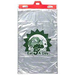 "LK® Linear Low Density Produce Bag w/""5 a Day"" Print"