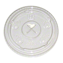 Fabri-Kal® Clear X Slot Lid w/Flavor Buttons