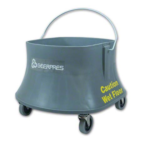 """Geerpres® Champ® Bucket On 3"""" Casters - 26 Qt., Gray"""