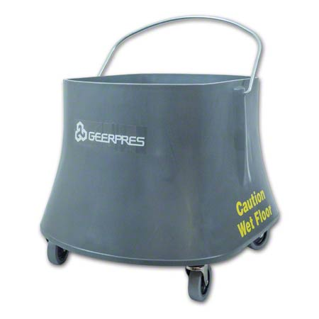 """Geerpres® Champ® Bucket On 3"""" Casters - 35 Qt., Gray"""