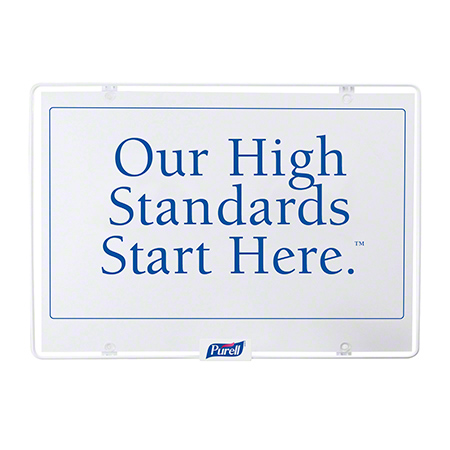 """GOJO® """"Our High Standards Start Here™"""" Sign Only"""