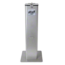 GOJO® Purell® Sanitizing Wipes Floor Stand Dispenser - Reflective Silver