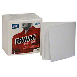 "GP Pro™ Brawny® A400 1/4 Fold Cleaning Towel -13"" x 13"""