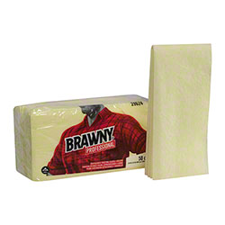 GP Pro™ Brawny® 1/8 Fold Yellow Dusting Cloth