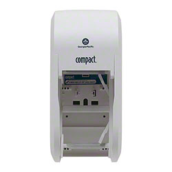 GP Pro™ Compact® Vertical Double Tissue Dispenser-White