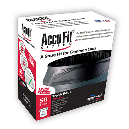 Heritage™ AccuFit® Sizing Can Liner - 28 x 45, .90 mil, Clear