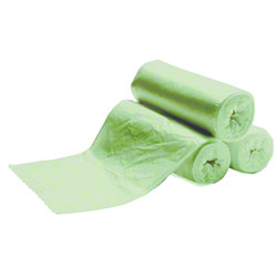 Heritage Bag Green Coreless Roll Liner - 30 x 45, 19 mic