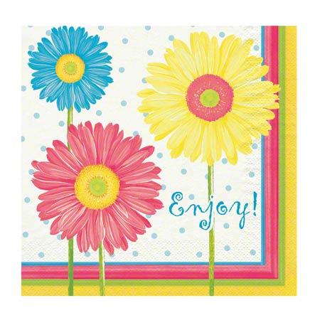 Hoffmaster® Floral Luncheon Napkin