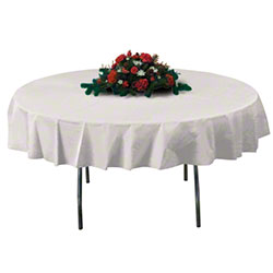 """Hoffmaster® Octy-Round® Tablecover - 82"""", Ivory"""
