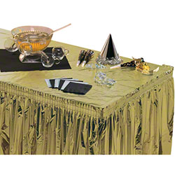 """Hoffmaster® Metallic Gold Tablecover - 54"""" x 108"""""""