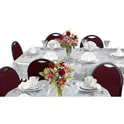 Hoffmaster® Tablecover - Metallic Silver