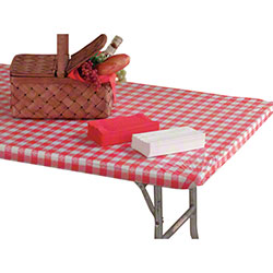 """Hoffmaster® Kwik-Covers® - 60"""" Round, Red Gingham"""