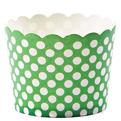 Hoffmaster® S!MPLY BAKED® Baking Cup - 3 oz., Green Dot