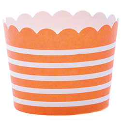 Hoffmaster® S!MPLY BAKED® Baking Cup - 3 oz., Tangerine
