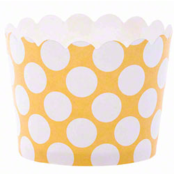 Hoffmaster® S!MPLY BAKED® Baking Cup -3 oz., Mustard Dot