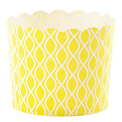 Hoffmaster® S!MPLY BAKED® Baking Cup - 5 oz.,Yellow Wave