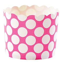Hoffmaster® S!MPLY BAKED® Baking Cup - 5 oz.,Fuchsia Dot