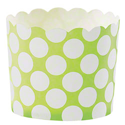 Hoffmaster® S!MPLY BAKED® Baking Cup - 5 oz., Lime Dot