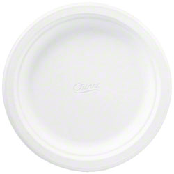 "Chinet® Classic White™ Molded Fiber - 8 3/4"", Rnd Plate"