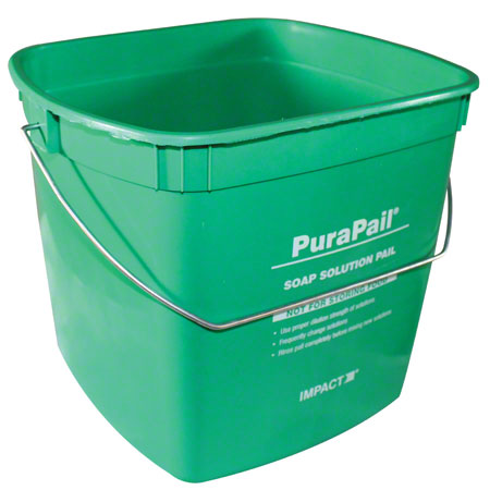 """Impact® 6 Qt. Green """"Cleaning"""" Square Utility Pail"""