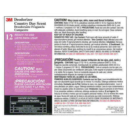"""3M™ Twist n"""" Fill™ Country Day Scent Deodorizer Label"""