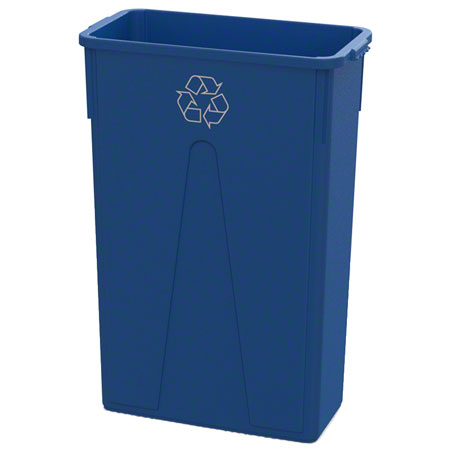 Impact® 23 Gallon Slim Recycle Container - Blue