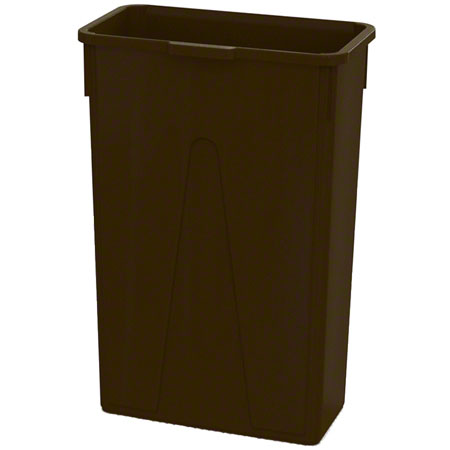 Impact® 23 Gallon Slim Container - Brown