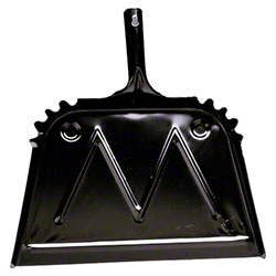 Impact® Black Metal Dust Pan - 16""
