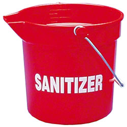 Impact® 10 Quart Deluxe Heavy-Duty Bucket - Red