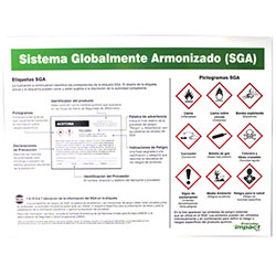 Impact® Spanish GHS Label Identification Poster