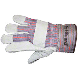 Impact® Leather Palm Glove w/Safety Cuff - Large