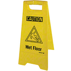 "Impact® English Only ""Wet Floor"" Sign"