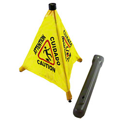 "Impact® 20"" Pop Up Safety Cone w/Hang Tube"