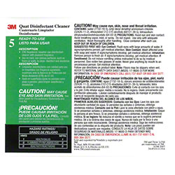 "3M™ Twist n"" Fill™ 5L Quat Disinfectant Cleaner Label"