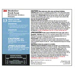 "3M™ Twist n"" Fill™ Fresh Scent Deodorizer Label"