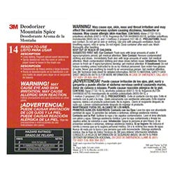 "3M™ Twist n"" Fill™ Mountain Spice Deodorizer Label"