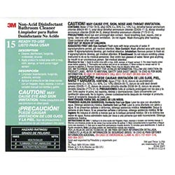 "3M™ Twist n"" Fill™ Disinfectant Bathroom Cleaner Label"