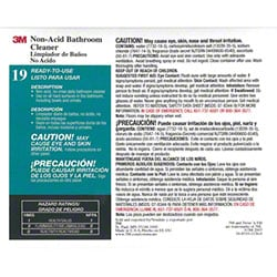 "3M™ Twist n"" Fill™ Non-Acid Bathroom Cleaner Label"