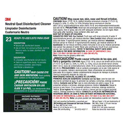 "3M™ Twist n"" Fill™ Neutral Quat Disinfectant Label"