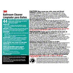 "3M™ Twist n"" Fill™ Bathroom Cleaner Label"