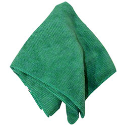 "Impact® Premium Weight Microfiber Cloth - 12"" x 12"", Green"